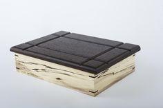 Spalted ash mitered keepsake box with wenge lid and corner splines