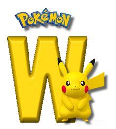 Abecedario de Pikachu de Pokémon. Pikachu Alphabet. Brother Birthday, Boy Birthday, Happy Birthday, Pikachu Drawing, Alphabet, Gaspard, Pokemon Birthday, Charizard, Letters And Numbers