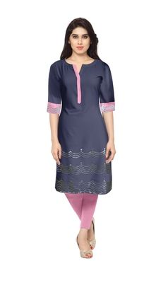 Blue plain faux crepe stitched kurti    Blue Kurtis, blue color kurtis, royal blue colour kurtis, blue Kurtis online, blue kurti Kurtis, Shops, Tunic Tops, India, Stitch, Clothes For Women, Awesome, Blue, Beautiful