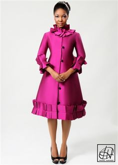 Vintage Box Pleat Dress by Tawni Haynes I so need this in my life. Too bad it is out of my budget. Church Suits And Hats, Church Attire, Box Pleated Dress, Trench Dress, Coat Dress, Ladies Day Dresses, Church Fashion, African Attire, How To Look Classy