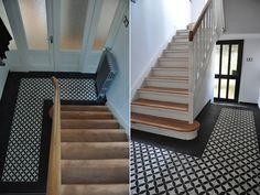 Treppenrenovierung arnstadt vinyl grau flur pinterest treppe flure und treppenhaus - Fliesen neuss ...