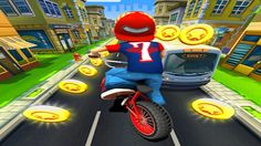 In Bike Blast, you going to ride your way through the narrow streets of the city and get points for the ride. Jump on your bmx bike and race through the city! Slide, jump, dodge and weave to avoid the obstacles that stand in your way! Pull crazy stunts on the grind rail and get some serious air time on the mega ramp!