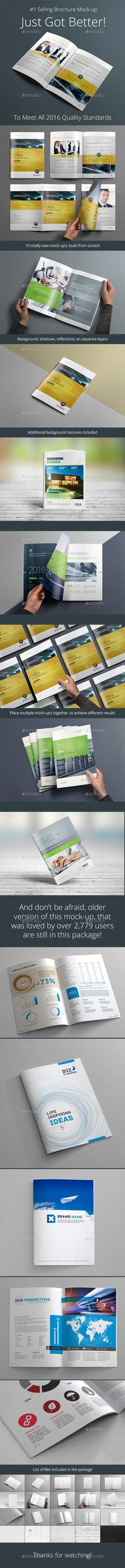 Buy Photorealistic Brochure Mock-up by on GraphicRiver. Best selling brochure mock-up received major update, to meet 2016 quality standards, here is some of the new features. Brochure Mockup, Brochure Template, Brochure Ideas, Graphic Design Templates, Mockup Templates, Mockup Photoshop, Change Background, Business Card Logo, Marketing