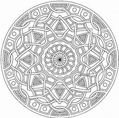 Printable Detailed Coloring Pages | Detailed Geometric Coloring Pages Mandala Style Pattern Pictures