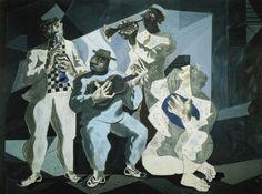Chorinho, 1942    Candido Portinari (Brasil 1903 – 1962)    têmpera sobre tela, 225 x 300 cm    Museu de Arte Moderna de Lisboa,    Portugal