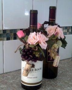 Blush Wine Theme Wedding Centerpieces Wine by AmoreBride on Etsy