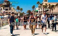 spying on cute boys