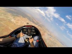 K13 Glider Solo Soaring Flight - Winch Launch, Thermalling, Landing - Cockpit View GoPro - YouTube