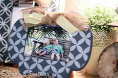 painted & stenciled picture frame