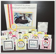 CTMH Create Kindness Card Kit  - The Singing Scrapper is Scrappin' In Harmony