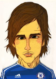 born 20 March nicknamed El Niño (The Kid in Spanish), is a Spanish footballer who plays for Chelsea and the Spain national team as a striker. Chelsea Football, Chelsea Fc, Soccer Players, Illustrations Posters, Famous People, Pop Art, Spanish Pronunciation, Handsome, Caricatures