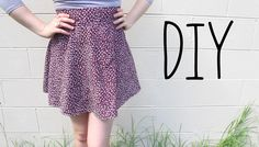 "DIY ""Half Circle Skirt"" Tutorial (with zipper!) plus 3 ways to hem a skirt"