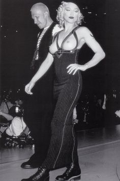 1992 - Jean Paul Gaultier AIDS Benefit gala show in Los Angeles - Madonna & JPG. If you've got it flaunt it. Madonna, Divas, Jean Paul Gauthier, Michigan, Hommes Sexy, Material Girls, Hollywood Celebrities, Clip, Famous Faces