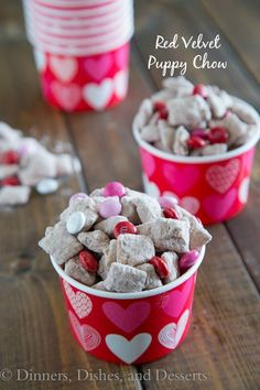 Red Velvet Puppy Chow | Dinners, Dishes, and Desserts - Part 1