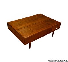love that this looks so similar to my coffee table! Mid Century Coffee Table, Coffee And End Tables, Walnut Coffee Table, Modern Coffee Tables, Side Tables, Danish Modern Furniture, Mid Century Modern Furniture, Mid Century Modern Design, Living Room Modern
