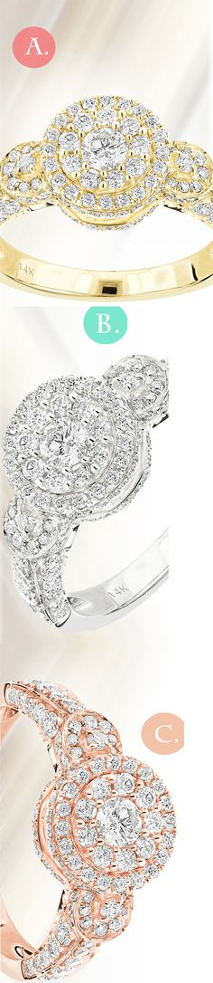 Happily engaged! We want to know your engagement ring color preference, tell us which color do you prefer!