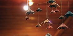 hanging mobile origami