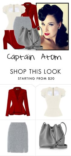"""Captain Atom"" by tinkerbell06 ❤ liked on Polyvore featuring Dita Von Teese, Hybrid & Company, Roland Mouret, D.Exterior, Lancaster and Yves Saint Laurent"