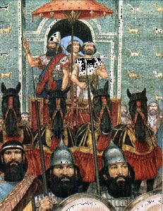 Nabopolassar (658 BC – 605 BC) was a king of Babylonia and a central figure in the fall of the Assyrian Empire.[1] The death of Assyrian king Ashurbanipal around 627 BC resulted in political instability. In 626 BC, a native dynasty arose under Nabopolassar, a former Assyrian official. Nabopolassar made Babylon his capital and ruled over Babylonia for a period of about twenty years (626–605 BC). He is credited with founding the Neo-Babylonian Empire, also known as the Akkadian Dynasty. By 616…