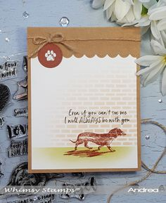 Hi there! Today I'm on the Whimsy Stamps' blog with this poignant card featuring their new Fill My Heart stamp set and Brick Pattern Stencil. Have a great day!