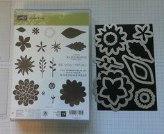 Easy way to line up the Stampin' Up! Flower Fair Framelits to the Flower...