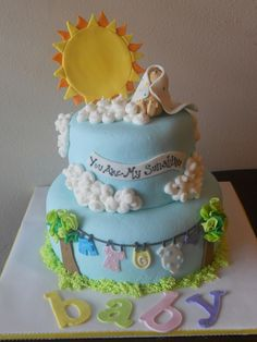 You are my sunshine baby shower cake : )