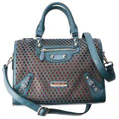 Nicole Lee® U.S.A. Small Satchel Handbag - Teal  $69.99