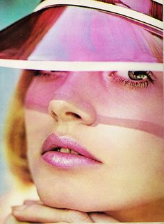Cover Girl SuperGloss Frosted lipstick advertisement, August 1973.