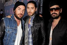Shannon Leto, Jared Leto and Tomo Milicevic from 30 Seconds To Mars arrive at Los Premios MTV Latin America Awards on Oct. 16, 2008, in Guadalajara, Mexico.