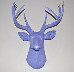 SALE Lavender Purple Faux Deer Head  Taxidermy Wall by NearAndDeer, $85.99
