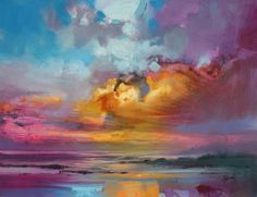 CMY Sky Study 1    I am so taken with Scott Naismith's colorful and stunning landscapes. His sky studies are breathtakingly beautiful an...