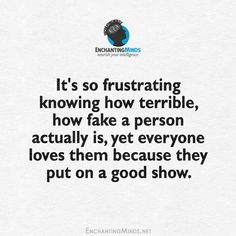 Thank God I never have to see or deal with these fake people again!