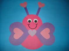 Valentines craft from shapes