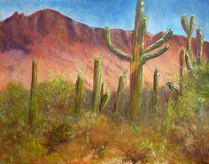 SAGURO GARDEN  An Original Oil Fine Art by AlanKrugFineArt on Etsy, $600.00