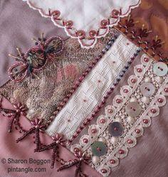 crazy quilt block via Pintangle.com