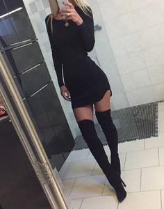 Schwarzes Kleid Gr. XS