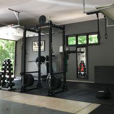 Home Gym Basement, Home Gym Garage, Diy Home Gym, Gym Room At Home, Home Gym Decor, Best Home Gym, Home Gym Design, Dream Home Design, Workout Room Home