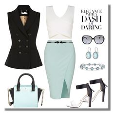 Untitled #779 by gallant81 on Polyvore featuring polyvore moda style BCBGMAXAZRIA Karen Millen Kate Spade Oliver Peoples fashion clothing