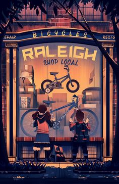 2014 Raleigh Holiday Poster on Behance