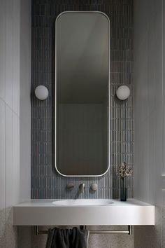 BBW House by Tecture - Project Feature - Architectural Cues in Materiality & Symmetry - The Local Project Bathroom Interior Design, Victorian Homes, Interiores Design, Bathroom Inspiration, Powder Room, Interior Architecture, House Design, Subway Tiles, Home Decor