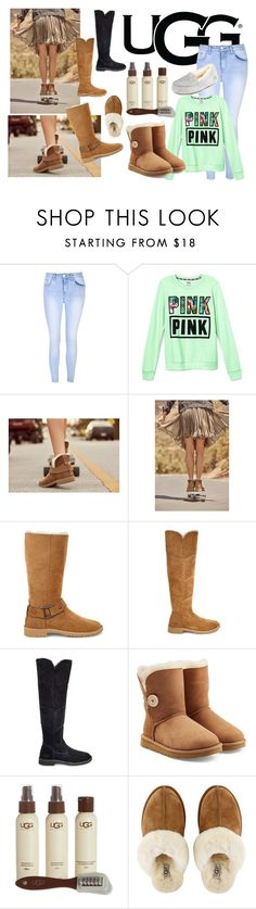 """""""The New Classics With UGG: Contest Entry"""" by nat-nat123 ❤ liked on Polyvore featuring UGG, Glamorous, Victoria's Secret, UGG Australia and ugg"""