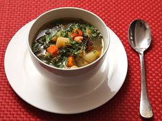 A quick and hearty vegetable soup with carrots, potatoes, leeks, and kale. 100% vegan, 100% satisfying.