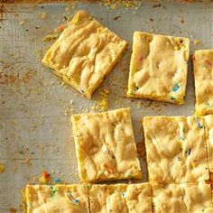 Easy Cake Mix Bars Recipe -I take these bars to work for Friday pick-me-ups. I love to share them because they're so easy to eat, easy to make and easy on the wallet. —Amy Rose, Ballwin, Missouri