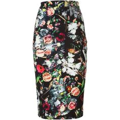 McQ Alexander McQueen Festival Floral Print Pencil Skirt ($259) ❤ liked on Polyvore featuring skirts, bottoms, floral, pencil skirt, black, flower print skirt, mcq by alexander mcqueen, floral pencil skirt, floral print skirt and pencil skirts