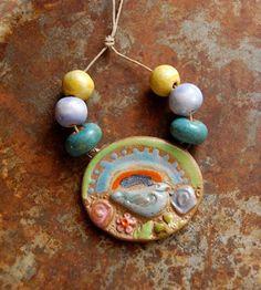 Gaea Ceramic Bead and Art Studio Blog - Happy Day link and ceramic bead set gaea.indiemade.com • gaea.cc