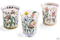 Lobmeyr's Oriental tumblers are modeled after designs the Austrian crystal and lighting manufacturer originally produced in 1898