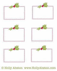 Free Printable Christmas Ornament Name Tags The Template Can Also