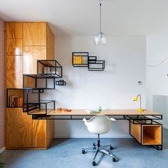 Follow @d.signers_in if you love design!  All about Design Trends! @d.signers_in . --- Storage shelving #desk designed by Filip Jabssens #d_signersIn