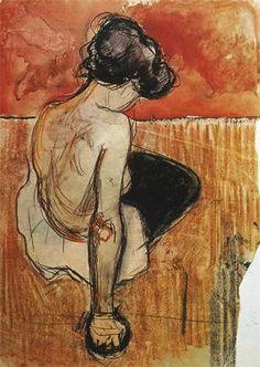 Edvard Munch , Seated Model, 1896.
