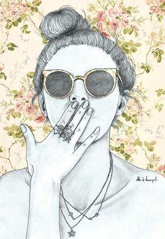 alba de armengol fashion girl illustration: